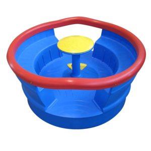 acquagioca giostre giramondo interamente in plastica blu rosso eurotank