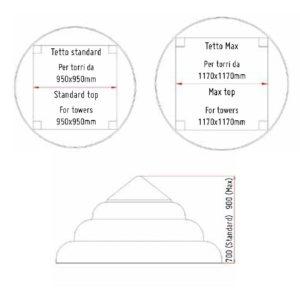 acquagioca tetti a cupola montebianco polietilene adattabili misure eurotank